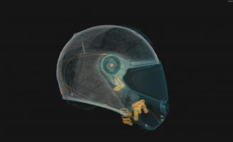 Томография мотошлемов